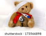 bear is sick in bed | Shutterstock . vector #173566898