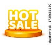 hot sale banner on podium....