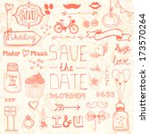 perfect save the date design... | Shutterstock .eps vector #173570264