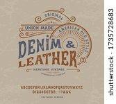 font denim   leather. craft... | Shutterstock .eps vector #1735728683