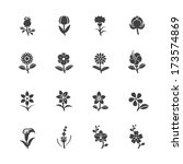 flower icons for pattern with... | Shutterstock .eps vector #173574869