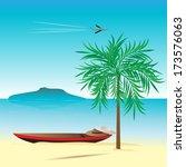 travel.  tropical landscape. ... | Shutterstock .eps vector #173576063