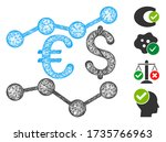 mesh financial trends web icon... | Shutterstock .eps vector #1735766963