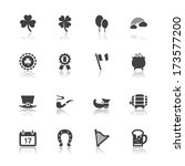 Saint Patricks Day Icons With...