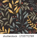 cute vector floral seamless...   Shutterstock .eps vector #1735772789