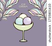 cup of ice cream vector... | Shutterstock .eps vector #1735801610