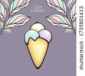 ice cream cone vector... | Shutterstock .eps vector #1735801613