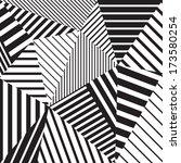 abstract geometric vector black ... | Shutterstock .eps vector #173580254