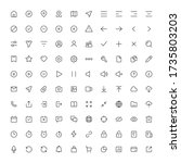 set of 100 thin ui icons for...