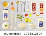 Mayonnaise And Ingredients Set. ...