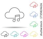 cloud music multi color style...