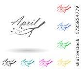 april multi color style icon....