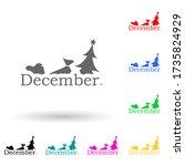 december multi color style icon....