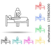 patient examination multi color ...