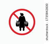no panic buying icon. ui symbol ...   Shutterstock .eps vector #1735842830