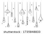 set of ceiling or hanging light ...   Shutterstock .eps vector #1735848833