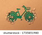 bike transportation papercut... | Shutterstock .eps vector #1735851980