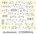 elegant elements of design... | Shutterstock .eps vector #1735890026