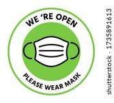 we're open again after...   Shutterstock .eps vector #1735891613