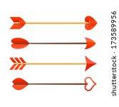 Stock vector cupid s arrows vector 173589956