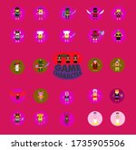 cute game character design with ... | Shutterstock .eps vector #1735905506