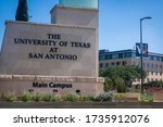 Small photo of San Antonio, Texas - May 19 2020: University of Texas at San Antonio (UTSA) main campus sign