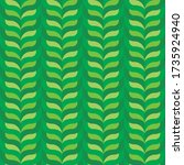 background with green leaves.... | Shutterstock .eps vector #1735924940