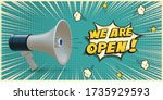 open advertisement. announcing... | Shutterstock .eps vector #1735929593