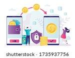 online money transfer ... | Shutterstock .eps vector #1735937756