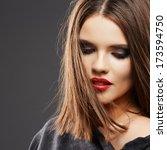 hair style model studio... | Shutterstock . vector #173594750
