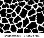 giraffe skin seamless pattern ... | Shutterstock .eps vector #173595788