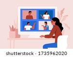 vector illustration in simple... | Shutterstock .eps vector #1735962020