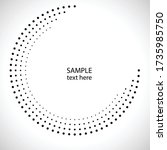halftone dots in circle form.... | Shutterstock .eps vector #1735985750