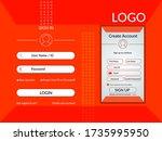 login page. sign up form. login ...