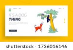 dog attack landing page... | Shutterstock .eps vector #1736016146