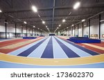 interior of an athletic arena | Shutterstock . vector #173602370