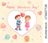 valentine's day illustration... | Shutterstock .eps vector #173607728