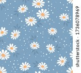 Seamless Of Daisy Flower...