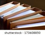 file stack  file folder close... | Shutterstock . vector #173608850