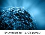 best internet concept of global ...   Shutterstock . vector #173610980