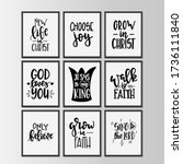 christian quotes hand drawn... | Shutterstock .eps vector #1736111840