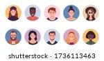 people avatar bundle set. user...   Shutterstock .eps vector #1736113463