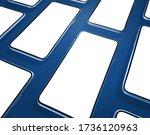 smartphones mockup on a blue...