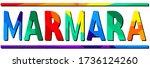 marmara. multicolored bright... | Shutterstock .eps vector #1736124260