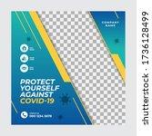 corona virus or covid 19... | Shutterstock .eps vector #1736128499