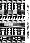 seamless vector tribal ethnic... | Shutterstock .eps vector #173616239