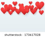 background beautiful red heart... | Shutterstock . vector #173617028
