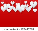 background beautiful red heart... | Shutterstock . vector #173617034