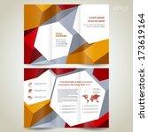 brochure design template... | Shutterstock .eps vector #173619164