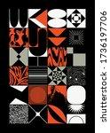 new grunge aesthetics in... | Shutterstock .eps vector #1736197706
